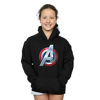 Marvel jenter Avengers 3D-Logo Hettegenser