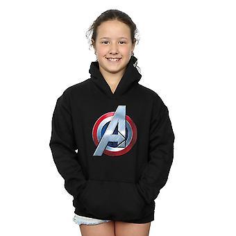 Ragazze di Marvel Avengers 3D Logo Hoodie