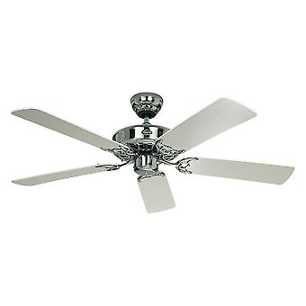 Ceiling fan Classic ROYAL Chrome polished with pull cord 75 cm to 132 cm / 30