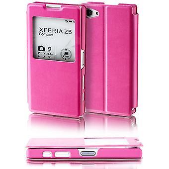 Booktasche venster roze voor de Sony Xperia Z5 compact 4.6