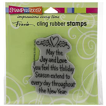Stampendous Cling Stamp -Joy & Love