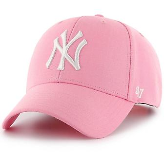47 fire Curved Snapback Cap - MVP New York Yankees pink