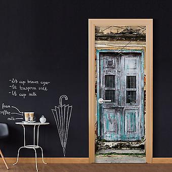 Foto tapet på døren - gamle dør