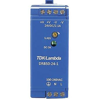 TDK-Lambda DRB-50-24-1 Rail mounted PSU (DIN) 24 Vdc 2.1 A 50.4 W 1 x