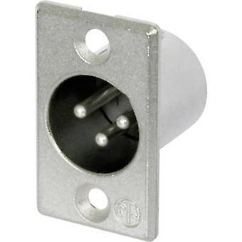 XLR connector Sleeve plug, straight pins Number of pins: 3 Silver Neutrik NC3MP 1 pc(s)