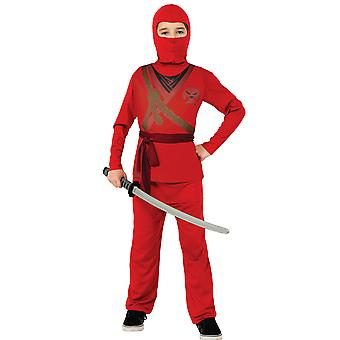 Red Ninja Stealth Assassin Japanese Asian Warrior Book Week Boys Costume