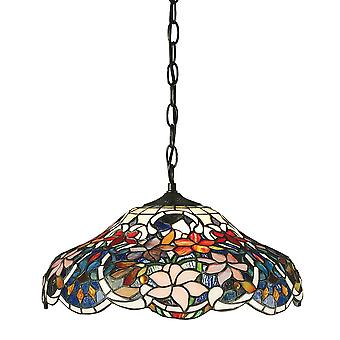 Interieurs 1900 Sullivan Rich Tiffany bloemdessin Dome hanger schaduw licht