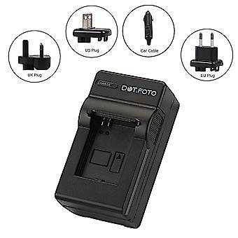 Dot.Foto Hitachi 02491-0028-01, 02491-0054-02 Travel Battery Charger for Hitachi DS-A651, HDC-831E, HDC-851E, HDC-1051, HDC-1251E