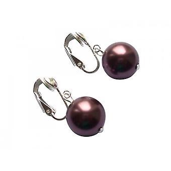 Øreringe perler tahiti brun schokofarben ULRIKA 925 sølv