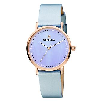 ORPHELIA Women Analogue Watch Fronte di marmo Blue Leather OR11707