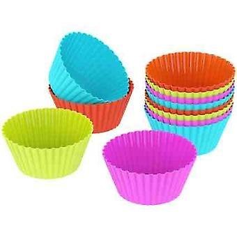 25 gjenbrukbare Muffin bokser former i 6 farger av høy kvalitetssilikon | 5 farger | Baking Mold sjokolade Jelly
