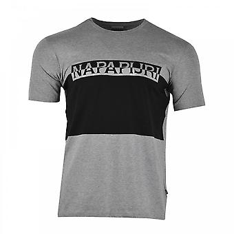 Napapijri Mens Sibanor Reflective Logo T-Shirt (Grey)