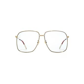 Gucci Oversize Vintage Web Sunglasses In Gold Blue
