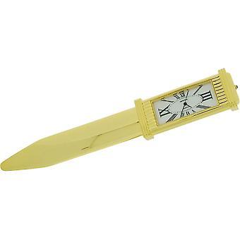 Geschenk Zeit Produkte Brieföffner und Clock - Gold