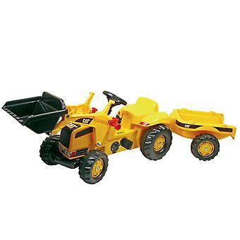 Rolly Toys RollyKid 023288 CAT Traktor mit Lader und Anhänger