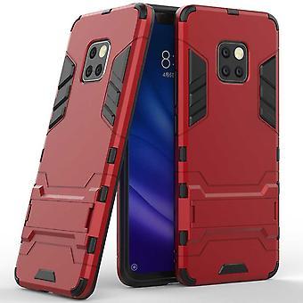 For Huawei kompis 20 Pro metal stil utendørs rød pose coveret beskyttelsesetui