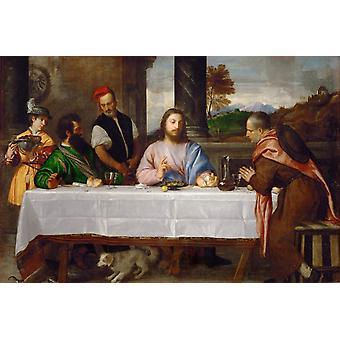 Le souper a Emmaus,Titian,50x40cm