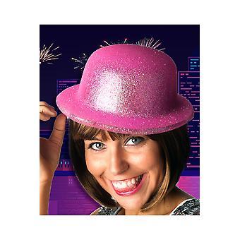 Hüte Fuchsia Bowler Hut Glitzer