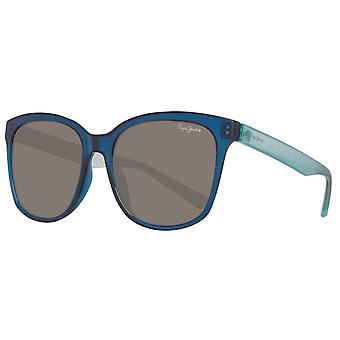 Pepe jeans for women plastic sunglasses Butterfly-style blue