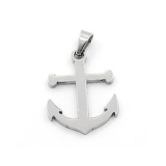 1 x Silver 304 Stainless Steel 20 x 27mm Anchor Charm/Pendant ZX20060