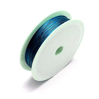 1 x Teal Blue Plated Copper 0.3mm x 20m Round Craft Wire Spool HA16795