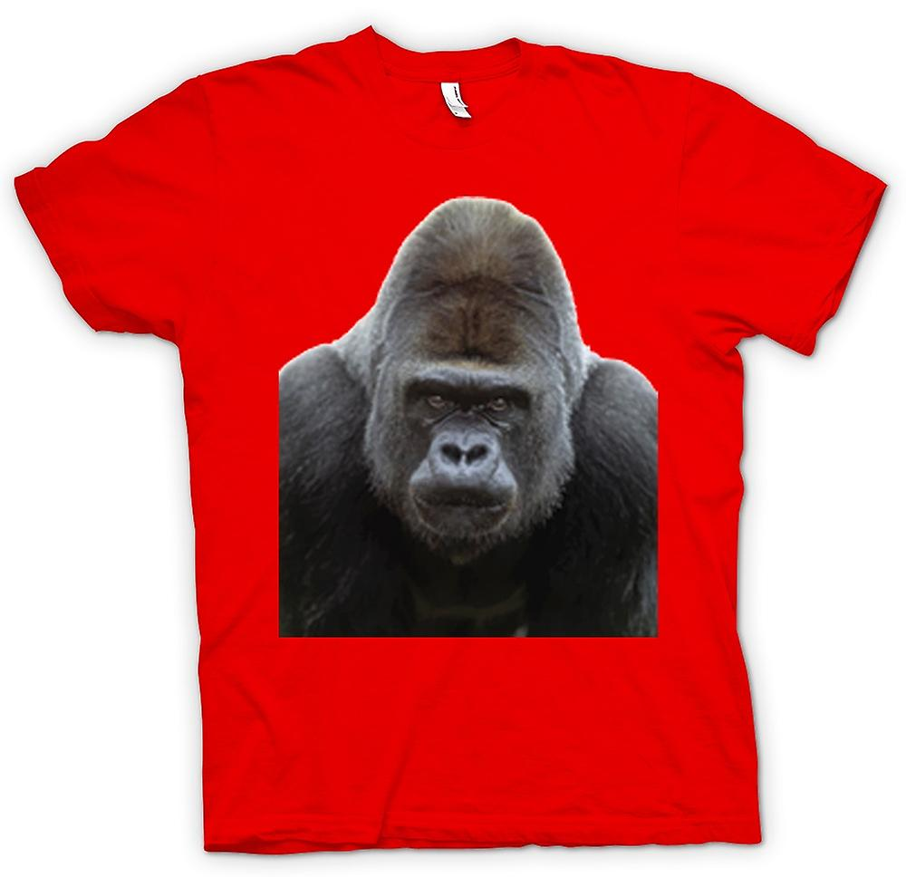 Mens T-shirt-Gorilla Silberrücken Portrait