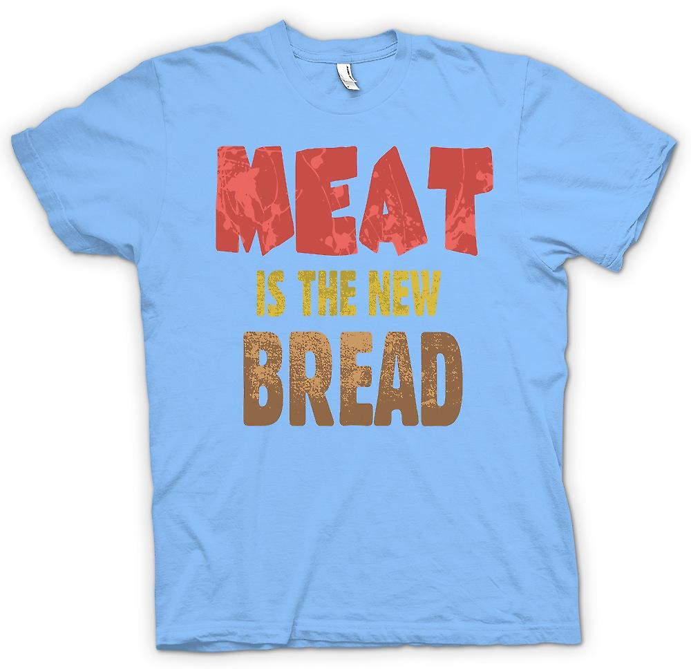 Mens T-shirt - Meat Is The New Bread - Funny