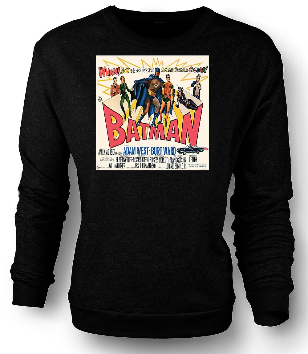 Mens Sweatshirt Batman Adam West - klassieke B-Movie - Poster
