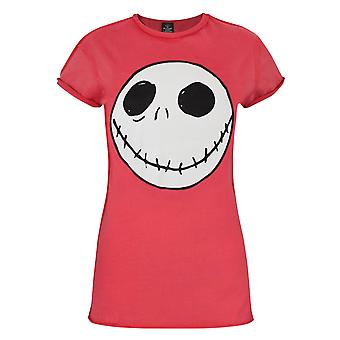 Nightmare Before T-Shirt rouge Christmas Jack inverse couture féminine