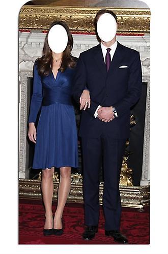 Prinz William und Kate Middleton Lifesize Karton Stand-in Cutout