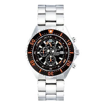 CHRIS BENZ - Taucheruhr-Armbanduhr - DEPTHMETER CHRONOGRAPH 300M - CB-C300-O-MB