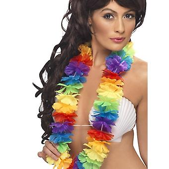 Hellen Multi-Coloured großen Hawaiian Lei Fancy Dress Zubehör