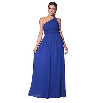 KRISP kvinner Maxi kjole formell lang damer kappe chiffon kveld bryllupsfesten størrelse 8-28