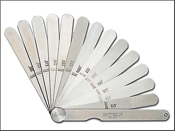 Starrett 467M Feeler Gauge 13 Piece Set 0.04-5mm