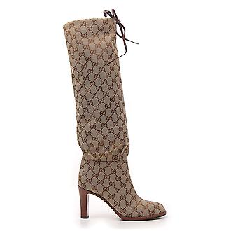 Gucci Beige Fabric Boots