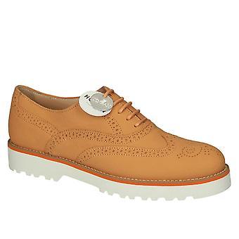 Hogan Orange Leather Lace-up Shoes