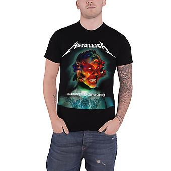 Metallica T Shirt Hardwired Album Cover Band Logo Official Mens New Black