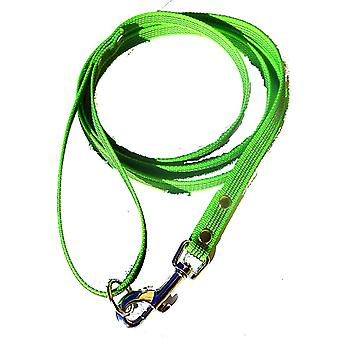 Super grip leash, lime green 15 mm wide
