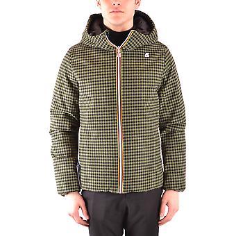 K-way Green Nylon Outerwear Jacket