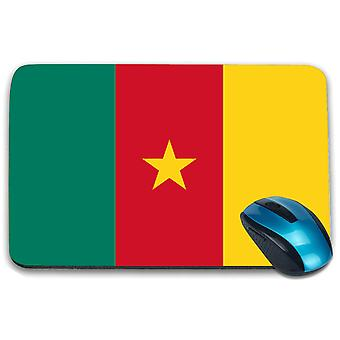 i-Tronixs - Cameroon Flag Printed Design Non-Slip Rectangular Mouse Mat for Office / Home / Gaming - 0031