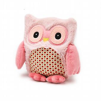 Intelex Hooty Owl Fully Microwavable Toy: Pink