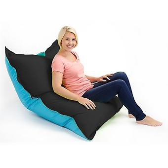 Black & Turquoise Water Resistant Large Bean Bag Slab