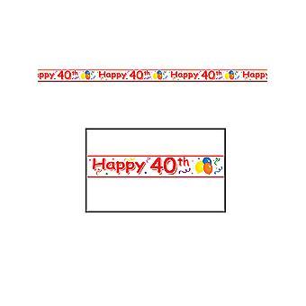 Joyeux 40e anniversaire party tape