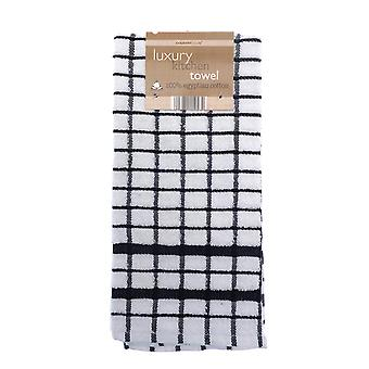 Country Club Luxury Kitchen Towel, Black