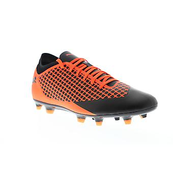 Puma Future 2.4 FG AG 10483902 Mens Orange Black Athletic Soccer Cleats Shoes