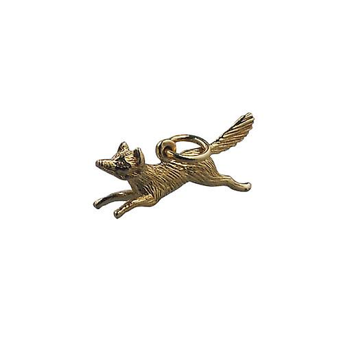 9ct or 8x23mm running Fox Pendant or Charm