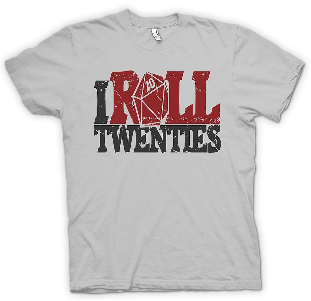 Heren T-shirt - ik Roll Twenties - Dungeons And Dragons