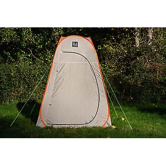 OLPRO Pop Up Utility Tent Under 1 Minute Grey Orange with Pegs Camping