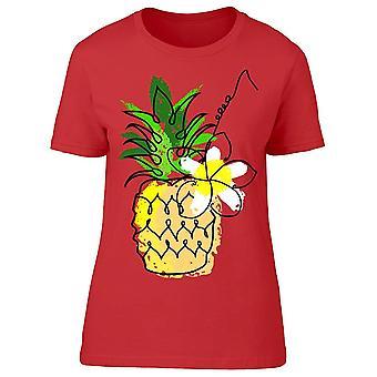 Fruit Hand Drawn Pineapple Tee Women's -Image by Shutterstock