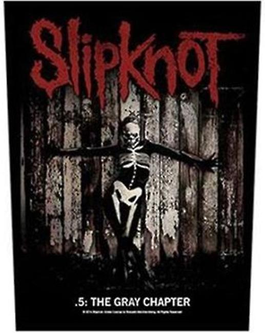 Slipknot Grey Chapter large sew-on back patch  (mm)